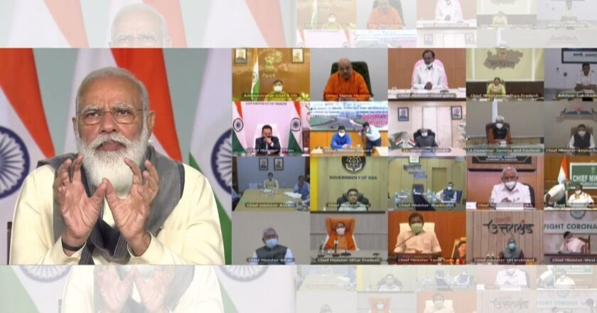 No licensed vaccine yet, important we continue with Covid measures, Modi cautions states